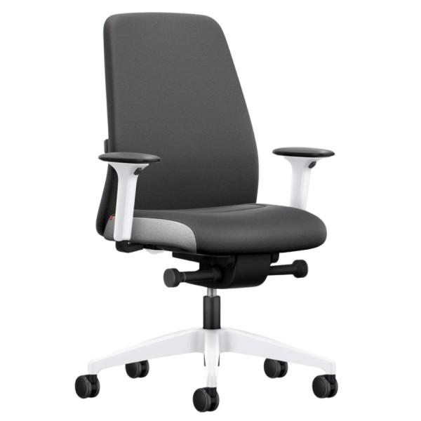 Interstuhl EVERY INTERIOR Edition Bürostuhl mit Polsterrücken grau