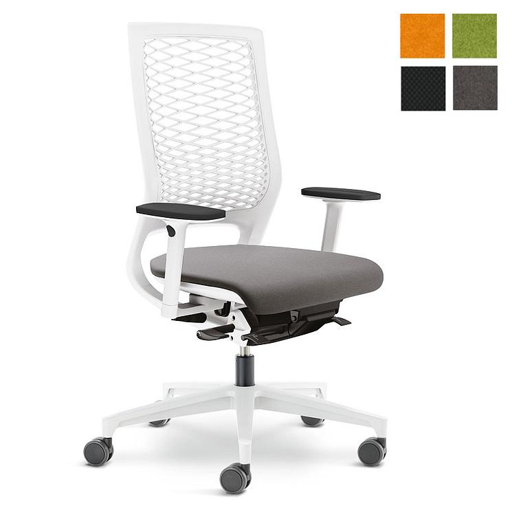 Klöber MERA 88 mit Kunststoffnetzrücken weiß Bürostuhl KL10010