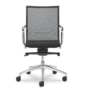 LD Seating PLUTO Chefsessel Bürostuhl mit niedriger Rückenlehne Netz schwarz oder weiß