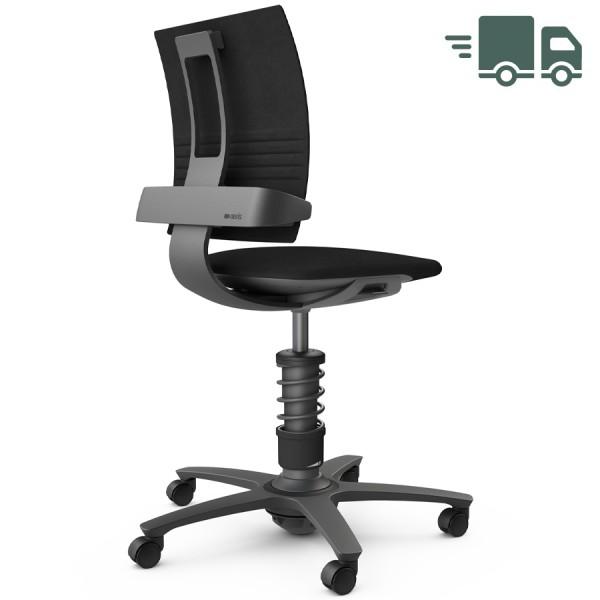 Aeris 3Dee Bürostuhl Mikrofaser schwarz Standard-Feder - Gestell schwarz