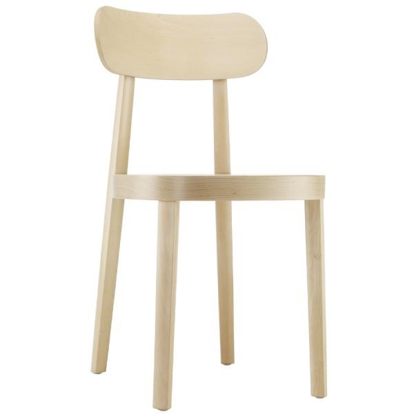 THONET 118 Holzstuhl Buche gebeizt aufgehellt mit Rohrgeflecht-Sitz