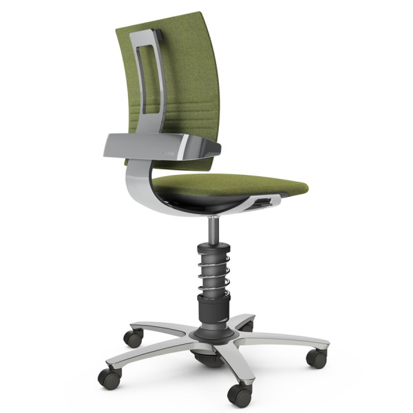 Aeris 3Dee Bürostuhl Capture grün Standard-Feder - Gestell/Feder hochglanz poliert