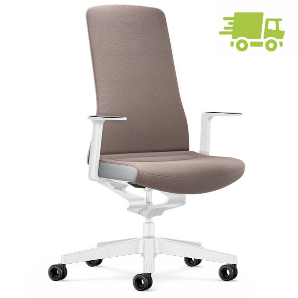 Interstuhl PURE INTERIOR Edition Bürostuhl mit Polsterrücken - Variante taupe