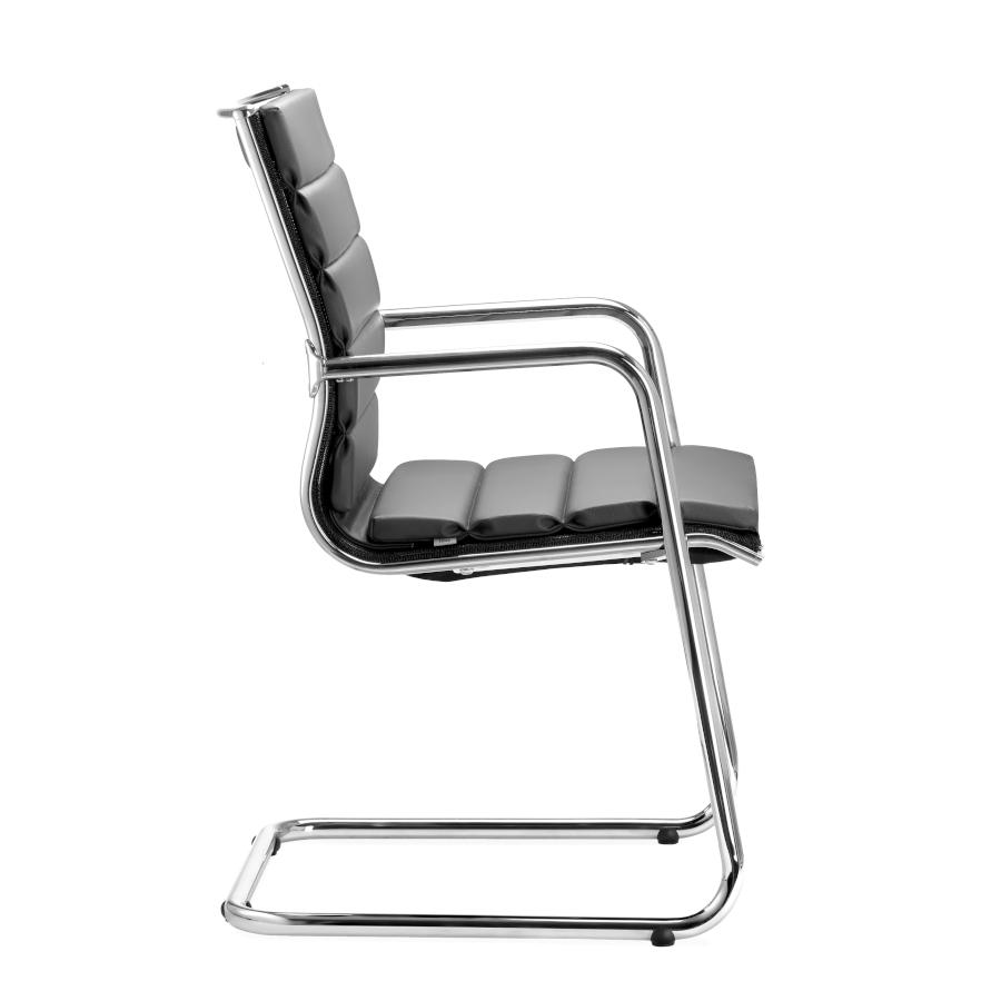 LD Seating PLUTO Freischwinger Konferenzstuhl gepolstert schwarz LD1008