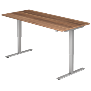 Schreibtisch MOVE IT Platte Zwetschge Nachb. Gestell silbern
