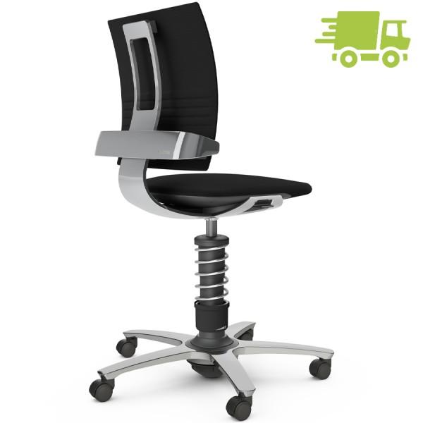 Aeris 3Dee Bürostuhl Wollmischung Select schwarz High-Feder - Gestell/Feder hochglanz