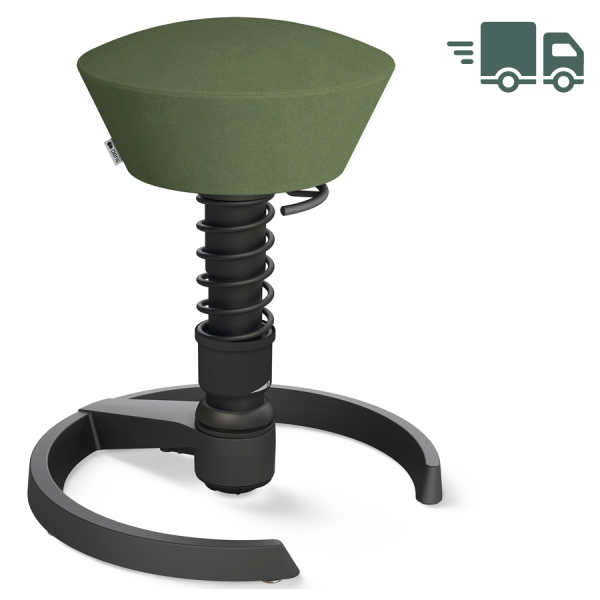 Aeris Swopper Mikrofaser Comfort grün - Gleiter - Gestell schwarz - Standardfeder