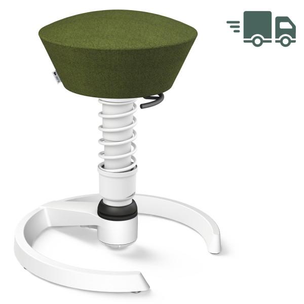 Aeris Swopper Capture Wolle grün meliert - Gleiter - Gestell weiß - Standardfeder