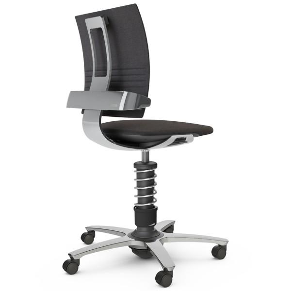 Aeris 3Dee Bürostuhl Capture schwarz High-Feder - Gestell/Feder hochglanz poliert