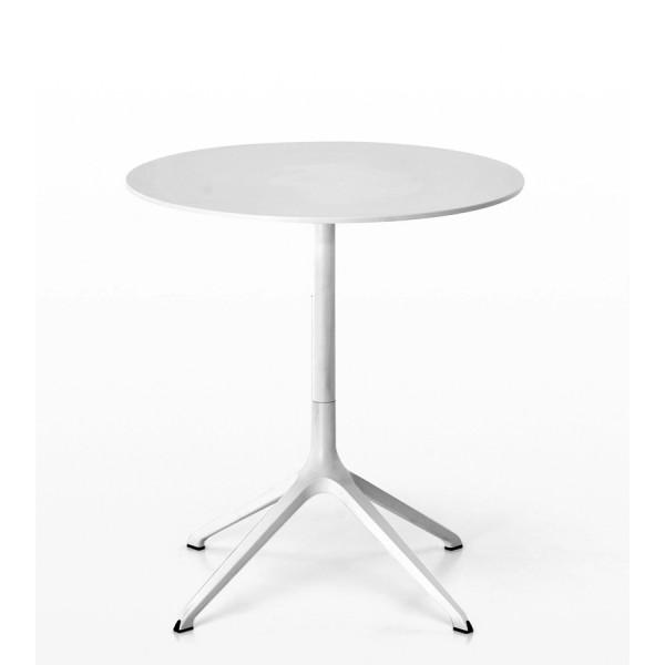 Kristalia Elephant Tisch mit weißer Laminatplatte Gestell weiß