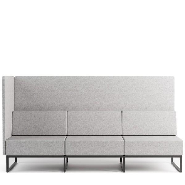 Bejot PLINT 3-Sitzer Modulsofa Seitenwand links bei Draufsicht