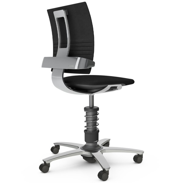 Aeris 3Dee Bürostuhl Mikrofaser schwarz Standard-Feder - Gestell/Feder hochglanz