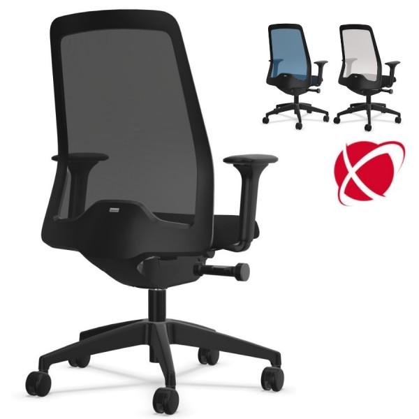 Interstuhl EVERYis1 EV261 FLEXTECH Bürostuhl schwarz mit Netzrücken