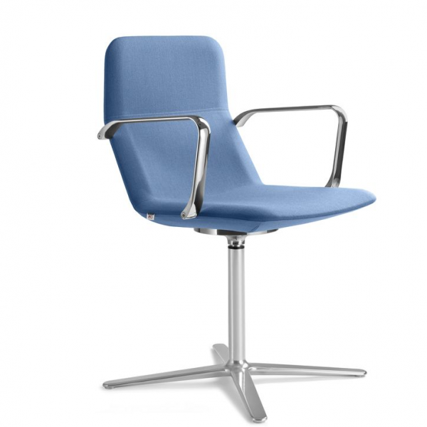 LD Seating FLEXI Drehsessel F25-N6 Gestell in chrom Stoff Crisp