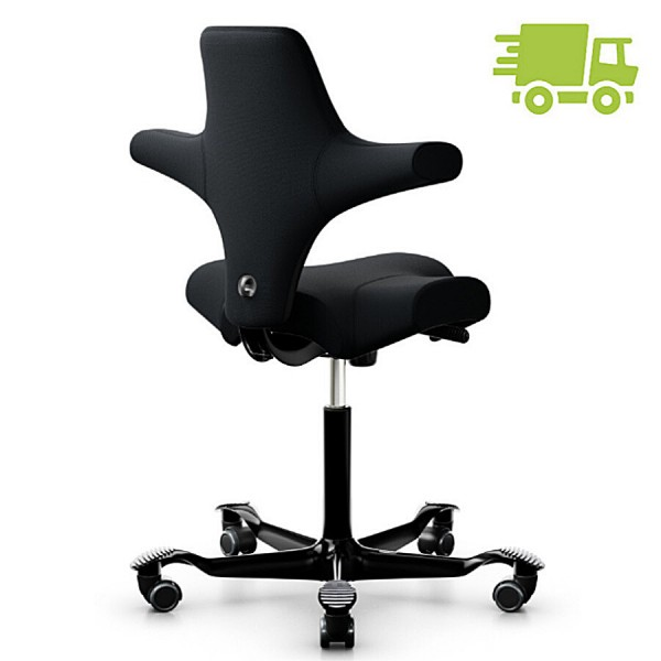 HAG Capisco 8106 Sattelstuhl Bürostuhl in Stoff Select schwarz - schnell geliefert