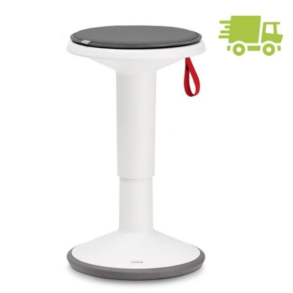 Interstuhl UP Weiß mit Sitzkissen Farbe quarzgrau - schnell geliefert