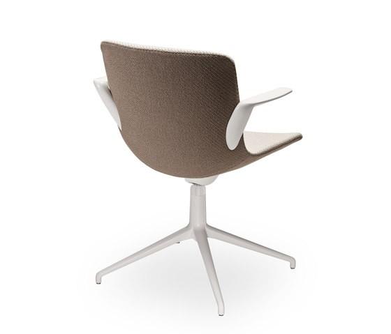 Sitland Milos Konferenzstuhl mit weißem Drehgestell SIT101010