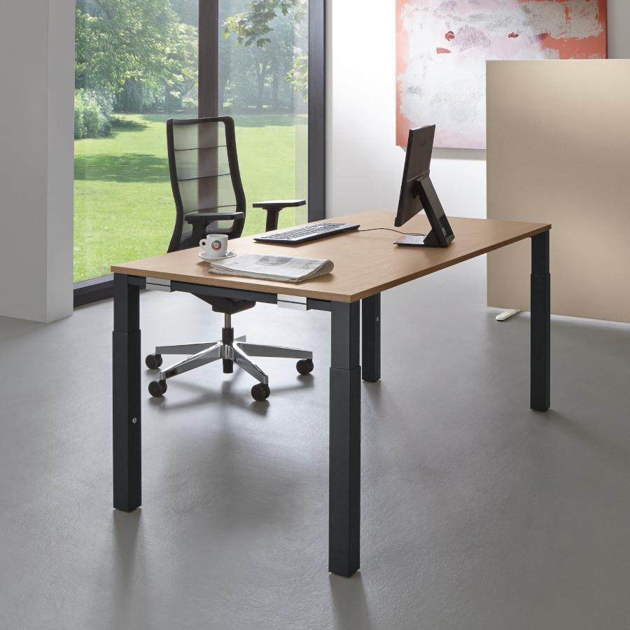 Palmberg SYSTO TEC Schreibtisch Vierfuß Quadratrohr PM100012