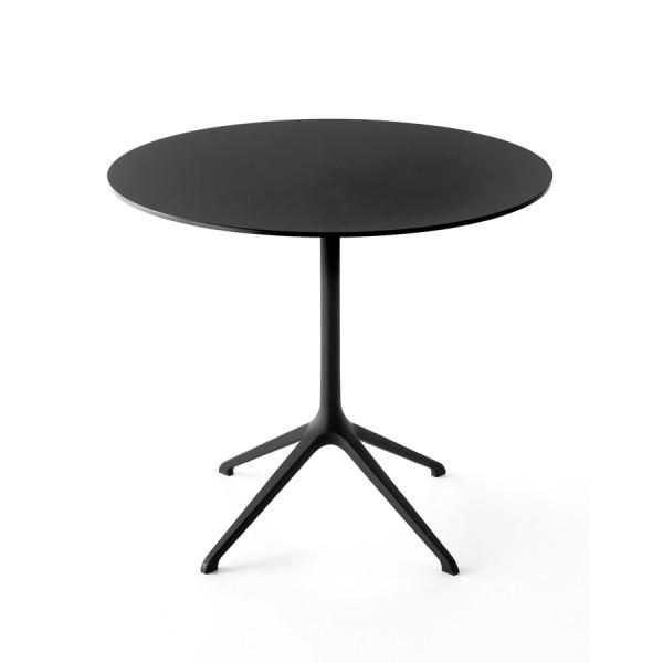 Kristalia Elephant Tisch rund Platte schwarz Gestell schwarz