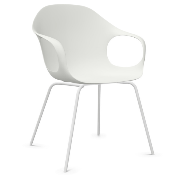 Kristalia ELEPHANT Stuhl mit Vierfußgestell Farbe weiß
