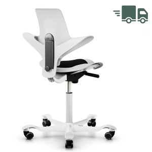 """HAG CAPISCO PULS 8010  """"White Edition"""" - weiß - ohne Sitzflächenmatte - schnell geliefert"""