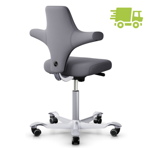 HAG CAPISCO 8126 Stoff Xtreme grau mit flachem Sitz