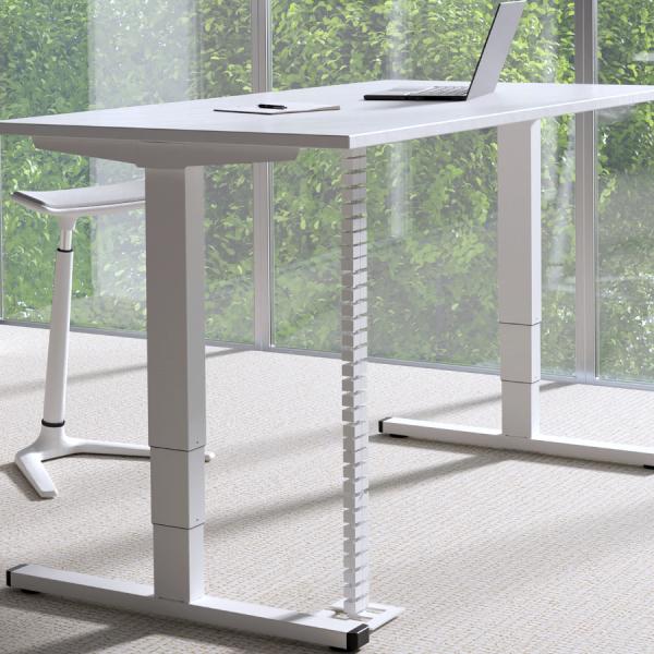 Palmberg Solitär höhenverstellbarer Tisch weißPalmberg Solitär höhenverstellbarer Tisch weiß