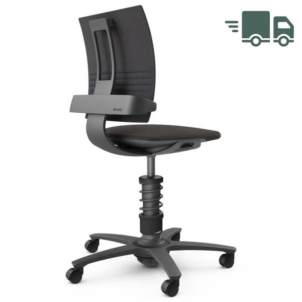 Aeris 3Dee Bürostuhl Capture schwarz Standard-Feder - Gestell schwarz