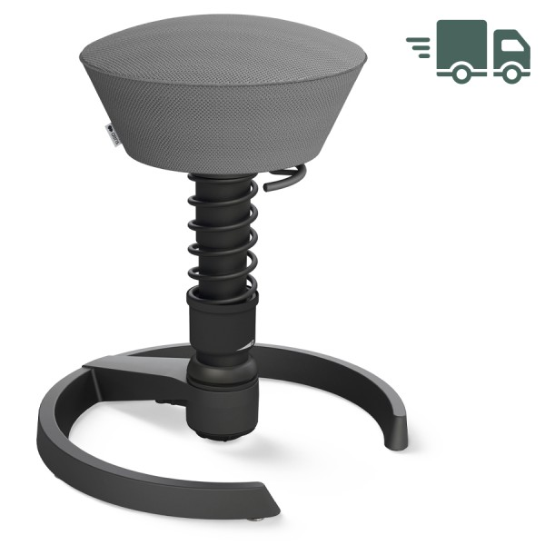Aeris Swopper AIR mesh grau - Gleiter - Gestell schwarz - Standardfeder