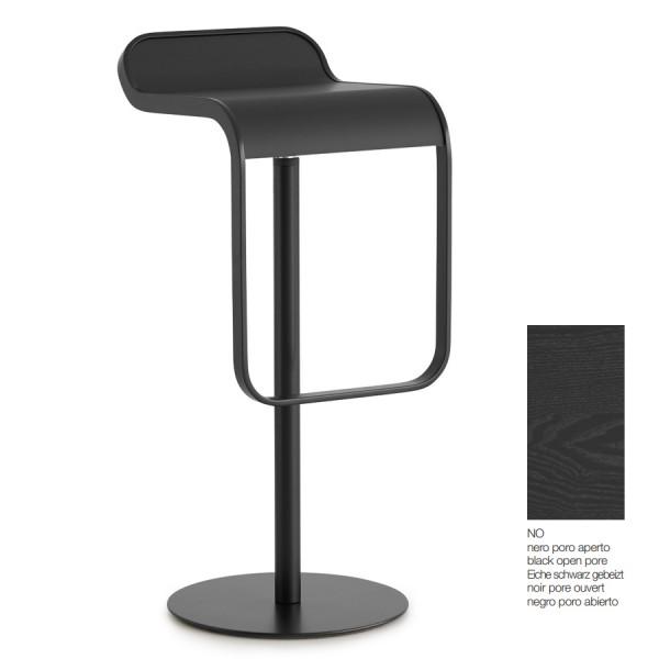 lapalma LEM Barhocker mit Sitzfläche schwarz gebeizt