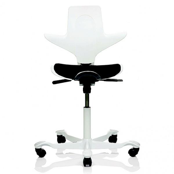 HAG Capisco Puls 8020 weiß mit Sitzflächenmatte