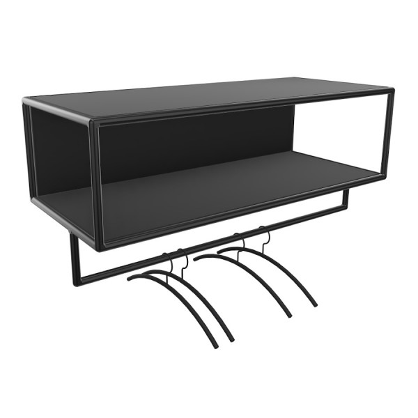Bosse >Garderobe Black Edition Breite 100 cm in Melamin Schwarz
