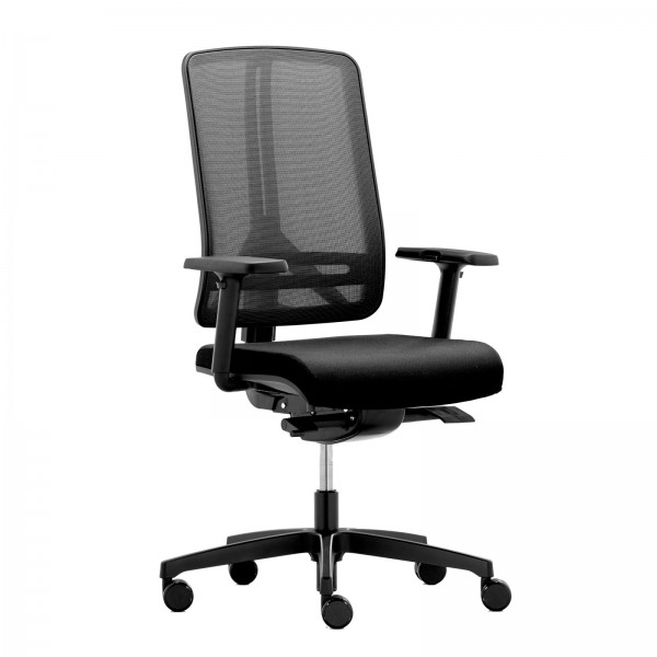 RWH Bürostuhl mit Netzrücken schwarz