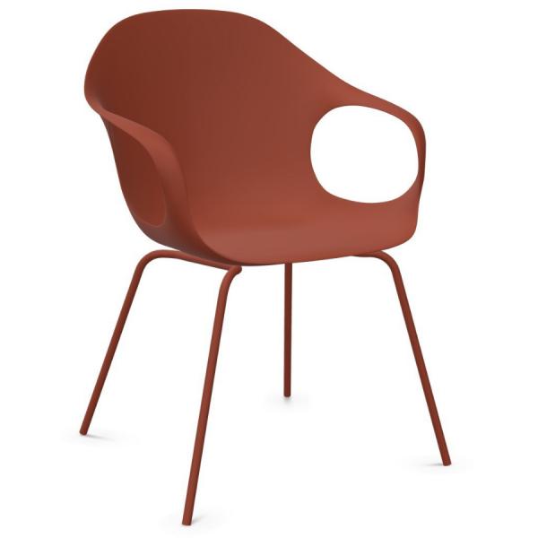 Kristalia ELEPHANT Stuhl mit Vierfußgestell Farbe Terracotta - Frontansicht
